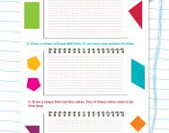 Follow instructions to draw shapes worksheet
