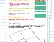 Following instructions puzzle activity