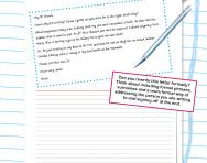 Formal letter-writing worksheet