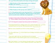 Fractions word problems worksheet
