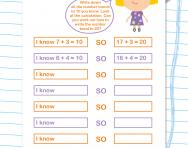 From number bonds to 10 to number bonds to 20 worksheet