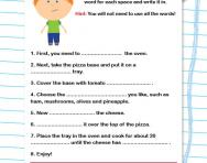 Giving instructions worksheet