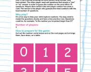Guess the number game worksheet