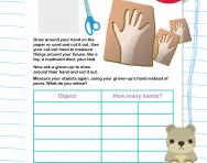 Hand measurements worksheet