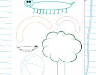 Handwriting practice on shapes worksheet