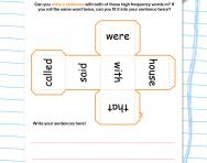 High frequency words sentence challenge worksheet