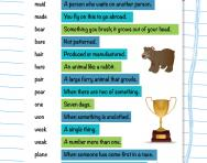 Homophones puzzle worksheet