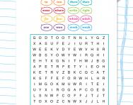Homophones wordsearch