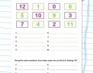 How many ways to make a number worksheet