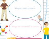 Human needs worksheet