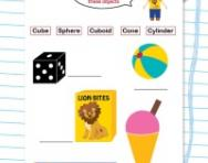 Identify 3D shapes worksheet