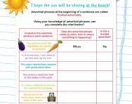 Identifying adverbial phrases worksheet