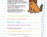 Identifying adverbs worksheet