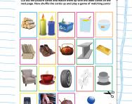 Identifying materials worksheet
