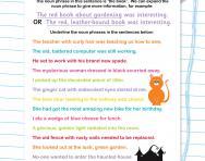 Identifying noun phrases worksheet