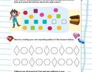 Identifying patterns game