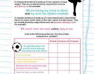 Identifying simple, compound and complex sentences worksheet