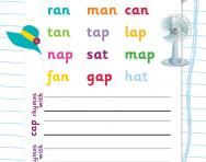 Identifying words that rhyme worksheet