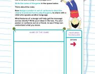 Instructions on how to play a game worksheet