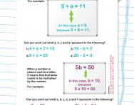 Introduction to algebra worksheet