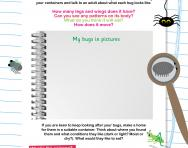 Investigating bugs worksheet