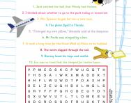 Irregular past tense verbs wordsearch