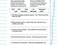 connective sentences examples