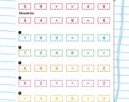 Jumbled number sentences division worksheet