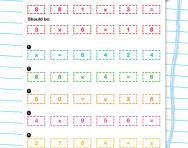 Jumbled number sentences multiplication worksheet
