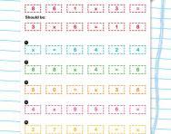 Jumbled number sentences multiplication worksheet