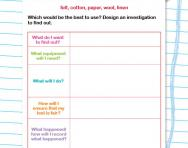 Keeping warm investigation worksheet