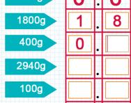Converting measurements between grams and kilograms tutorial