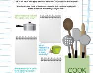 Kitchen materials worksheet