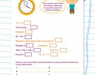 Know your Y2 number facts speed quiz