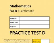 TheSchoolRun KS1 SATs maths practice paper D