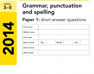 Key Stage 2 - 2014 English SATs papers