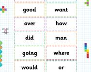 KS2 high-frequency words flashcards
