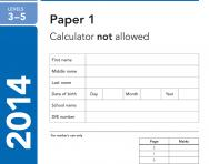 KS2 Maths SATs 2014 past papers