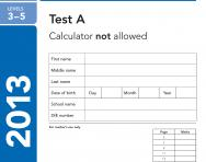 KS2 Maths SATs 2013 past papers