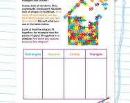 Learn the names of shapes worksheet