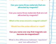 Magnets quiz worksheet