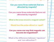 Magnets quiz worksheet