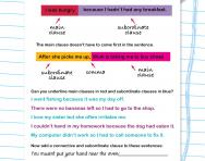 Lovely Main And Subordinate Clauses Worksheet