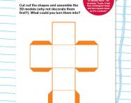 Make 3D shapes worksheet