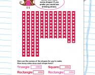 Make a 2D shape worksheet