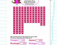 Make a 2D shape worksheet