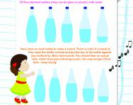 Make a bottle instrument activity