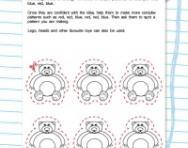 Make colour patterns activity