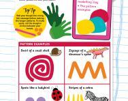 Make playdough patterns