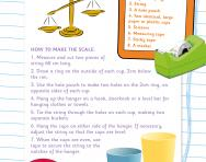Make your own balance scale